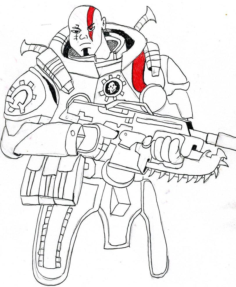812x985 Kratos Gears Of War By Wildstreak 33