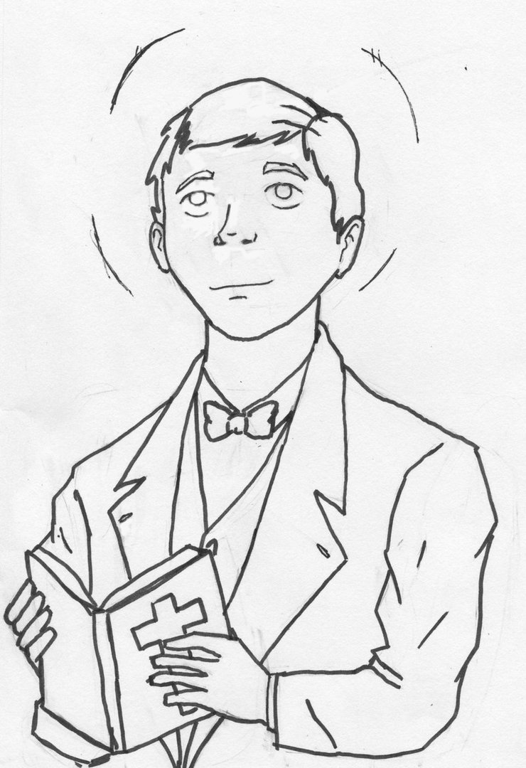 740x1080 commission work st dominic savio by pencil geek on deviantart
