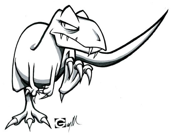 550x434 Dinosaur Drawings