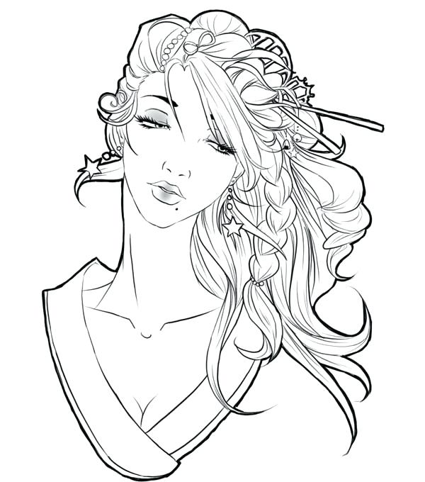 600x680 Geisha Coloring Pages Geisha Coloring Pages Adult Coloring Pages