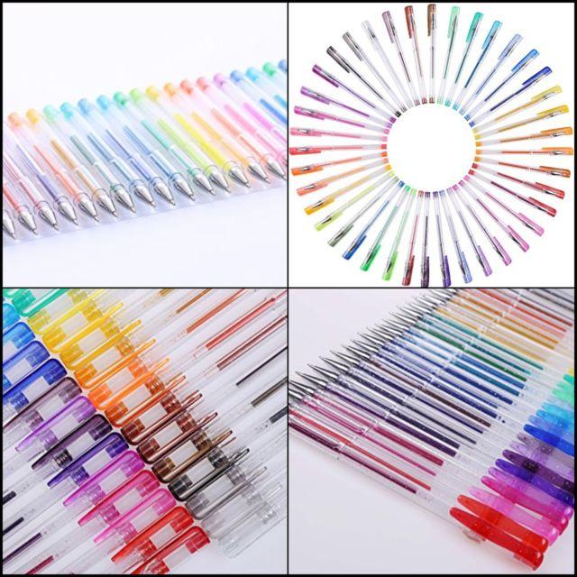640x640 Shuttle Art 80 Colors Glitter Gel Pens 40 Pen Set With Refills