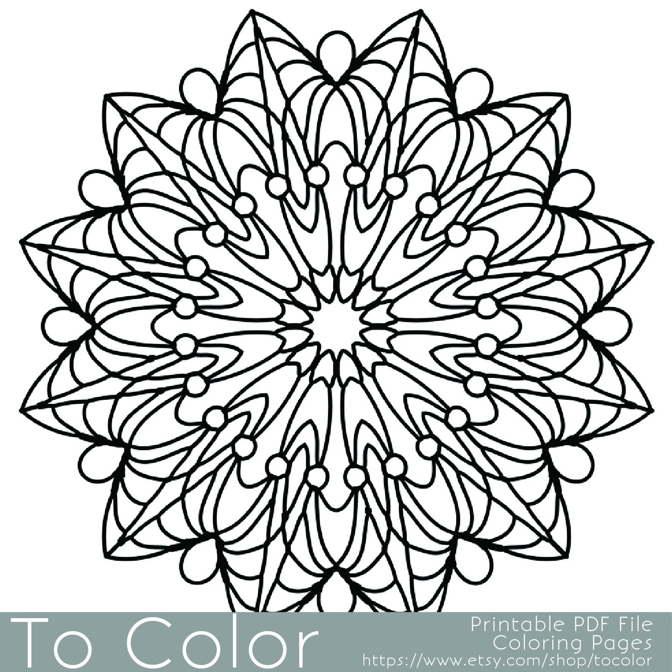 1348x1348 Simple Printable Coloring Pages For Adults, Gel Pens Mandala