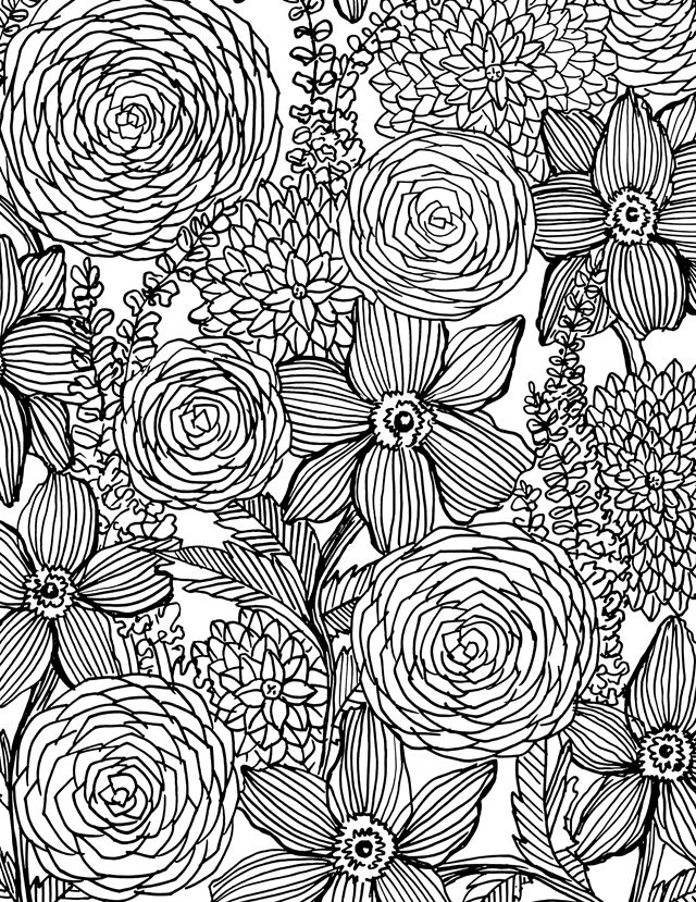 gel pen drawing at getdrawings free for personal use gel pen Phone Coloring Book 640x829 alisaburke flower power coloring book on sale and a free download