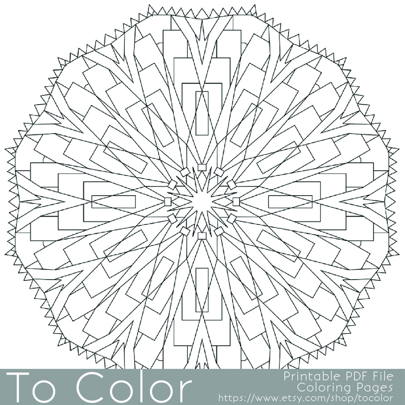 1348x1348 Detailed Printable Coloring Pages For Adults, Gel Pens Mandala
