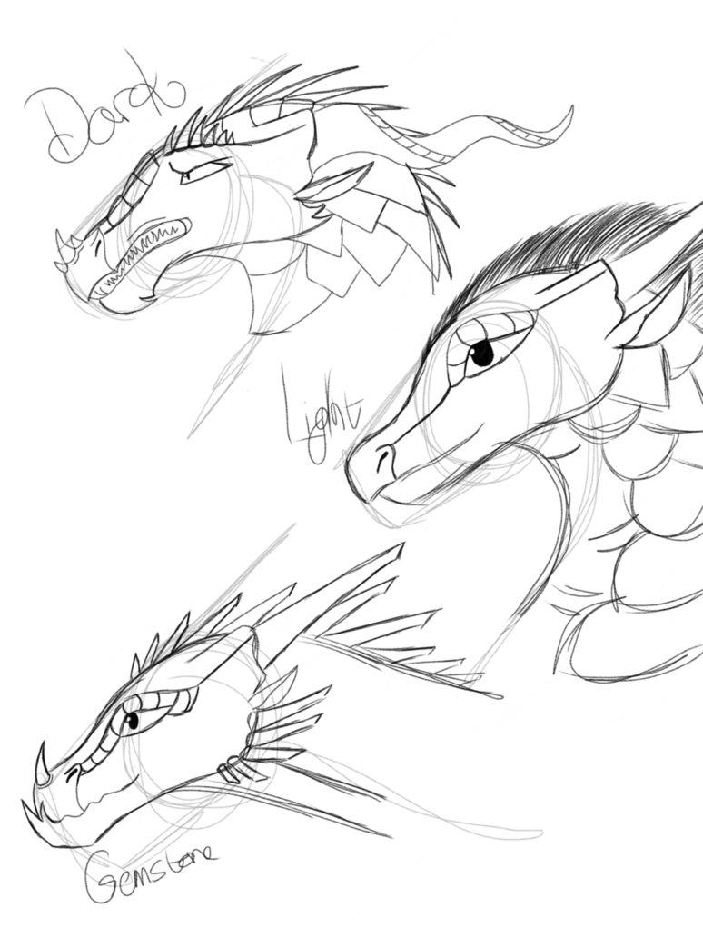 774x1032 Dark, Light And Gemstone Dragons By Moonwatcherscrafts