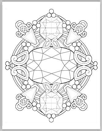 332x425 Gemstone Fantasy Coloring Book Vol. I Pdf Coloring Pages