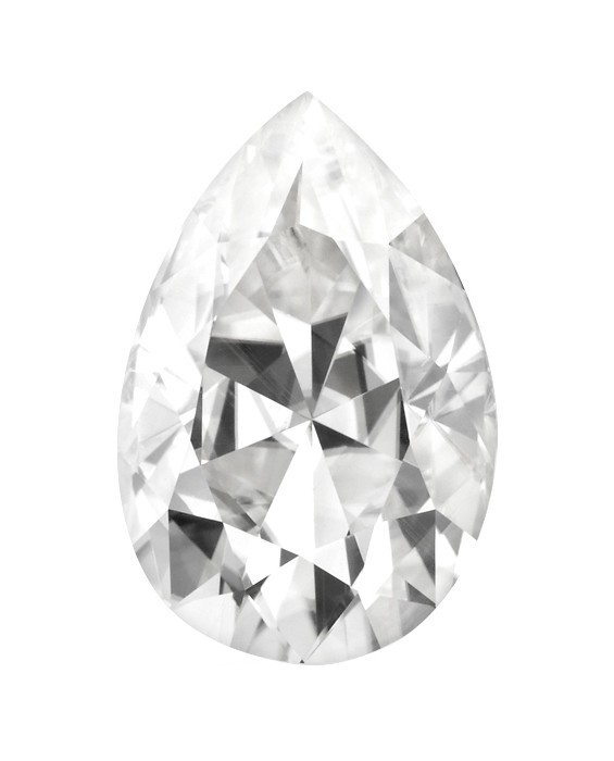 565x700 Pear Forever One Near Colorless Moissanite Gemstone 4.0x2.5 10.0x7