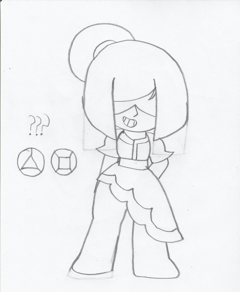 811x986 Garnet Gemstone Drawing