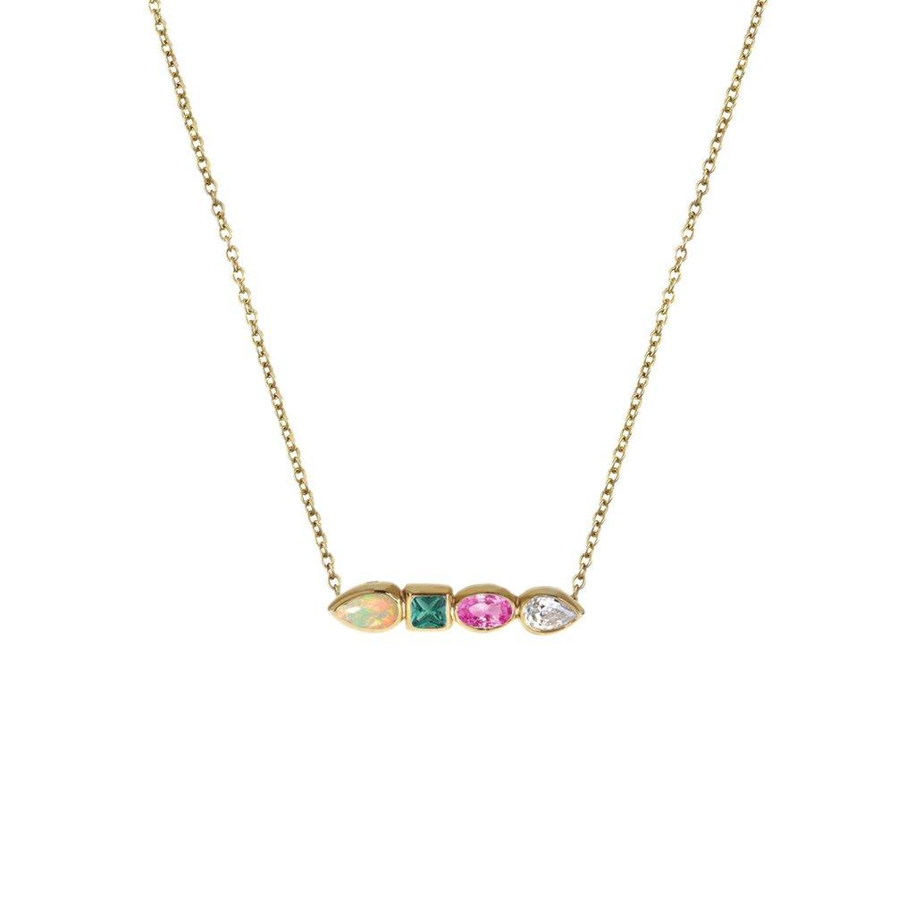 1024x1024 Stepping Stone Gemstone Bar Necklace Stephanie Gottlieb Fine Jewelry