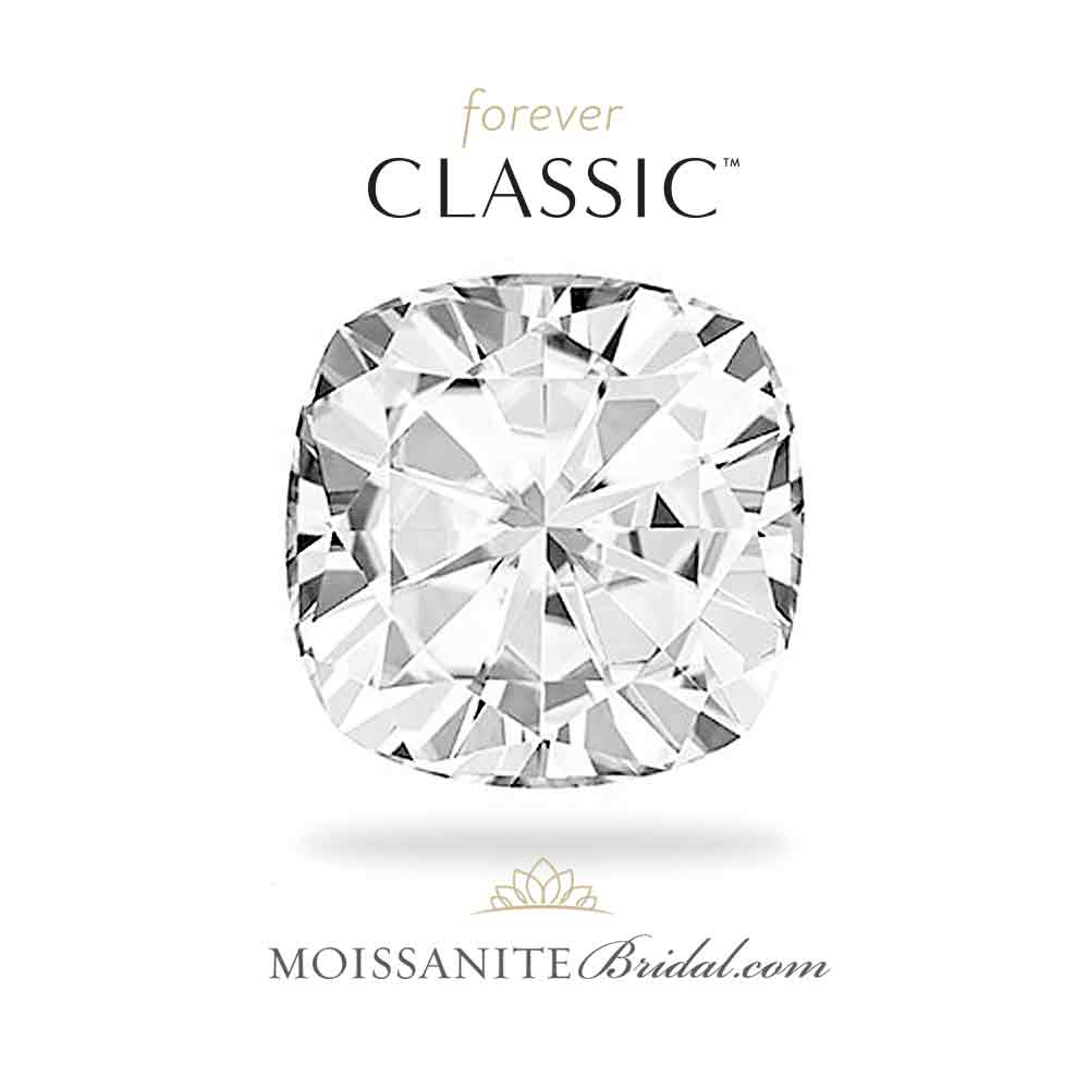 1000x1000 Cushion Cut Forever Classic Moissanite Gemstone