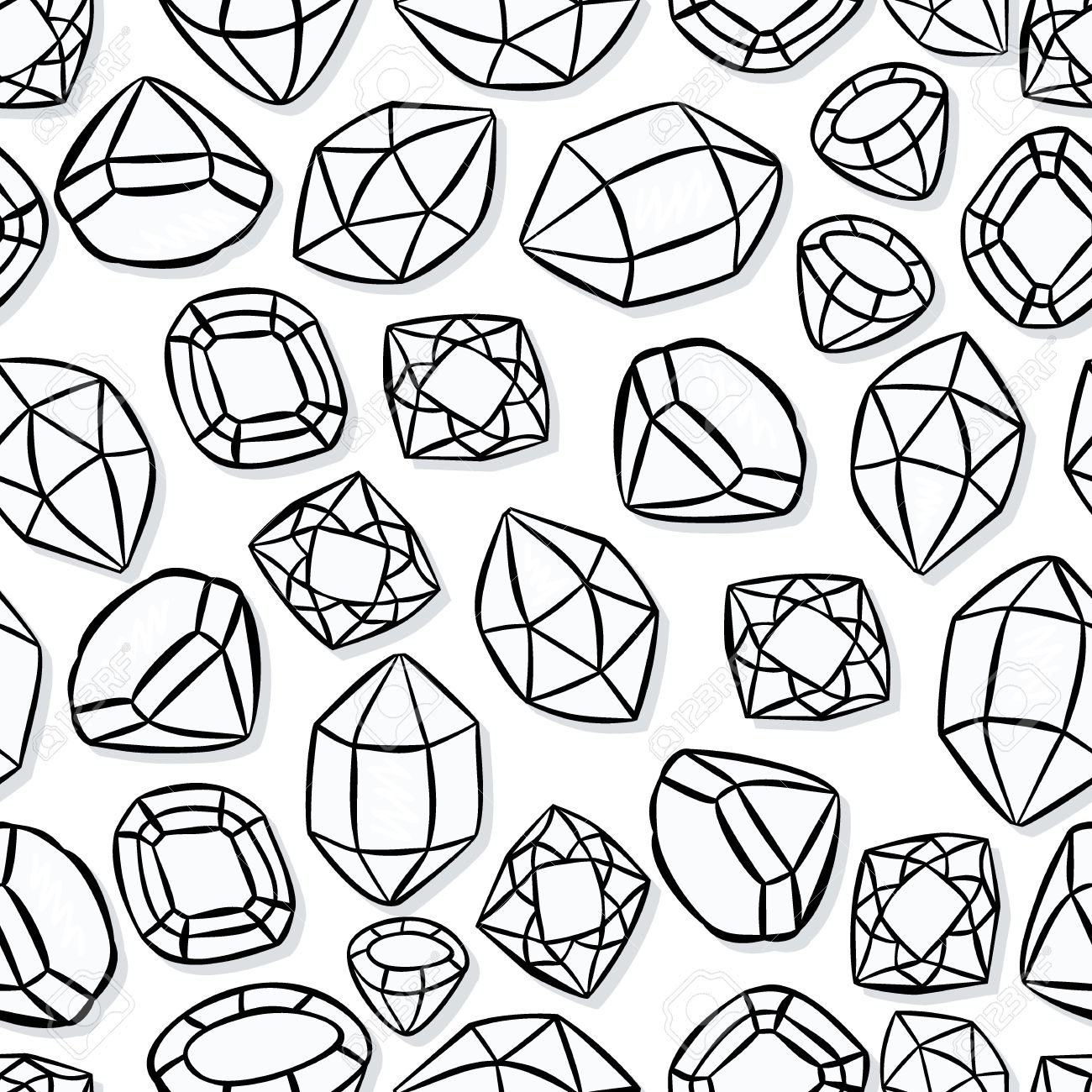 1300x1300 Monochrome Beautiful Shining Crystals Diamonds Precious Stones