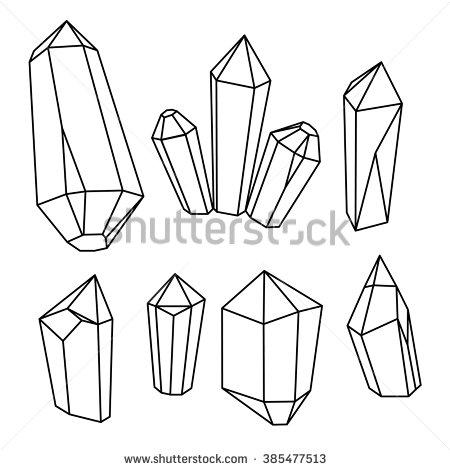 450x470 Set Of Geometric Crystals. Geometric Shapes. Geometric Gems.trendy