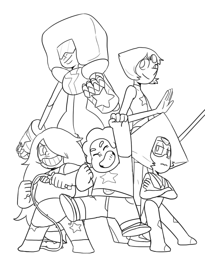 800x1000 Crystal Gems By Efdh On Lineart Steven Umiverse