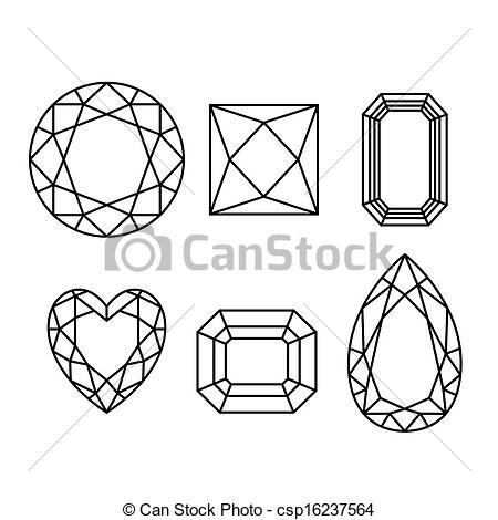 450x470 Diamonds Drawings