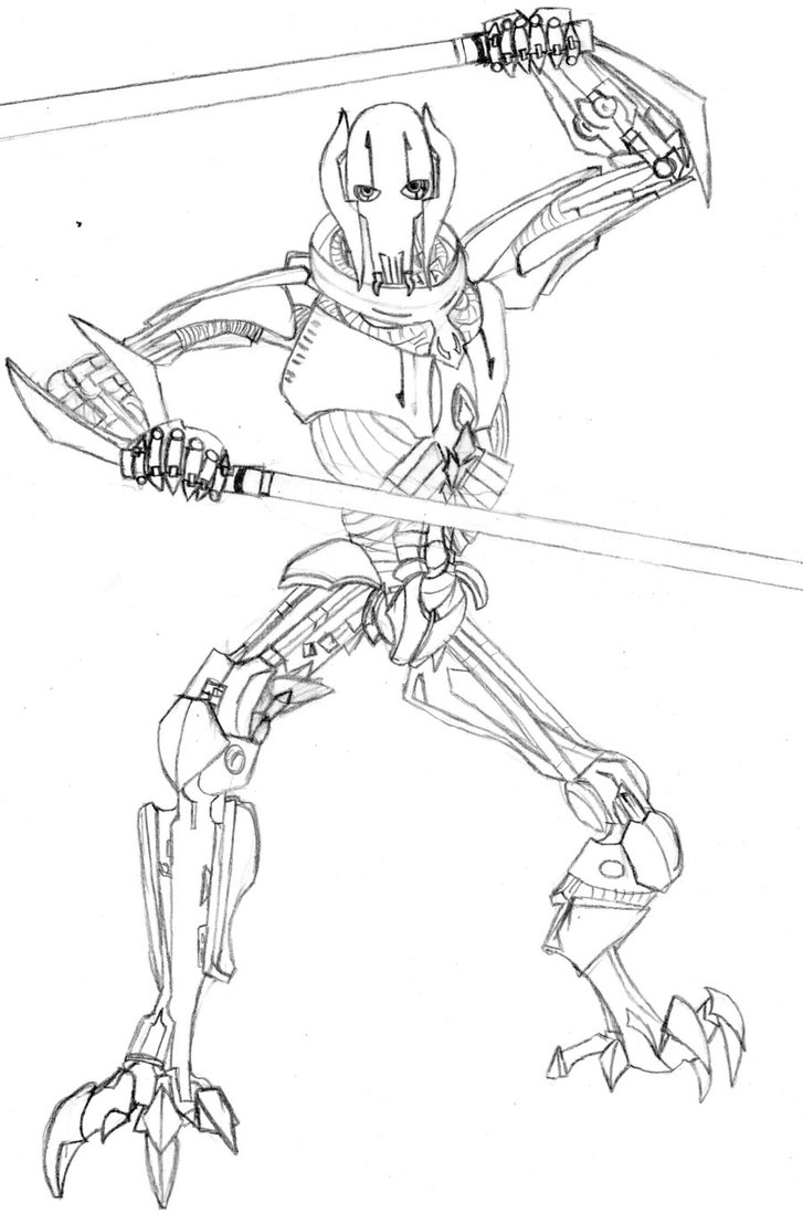 727x1099 General Grievous By Loopy Lass