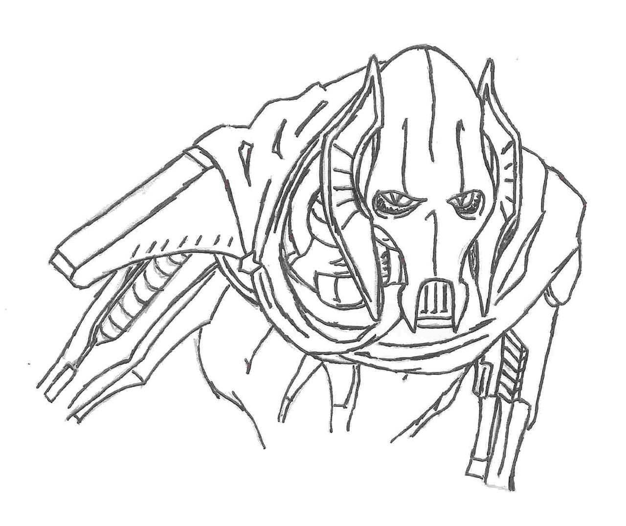 General Grievous Drawing at GetDrawings.com | Free for personal use ...