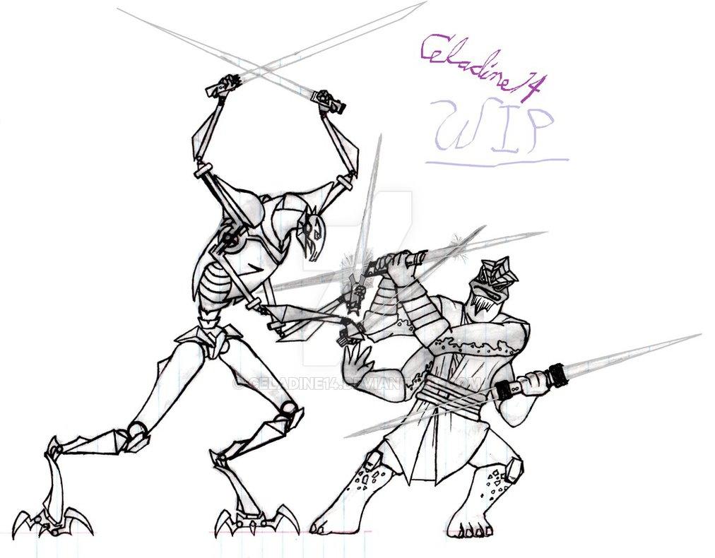1012x790 Grievous Vs Krell Wip 3 By Celadine14