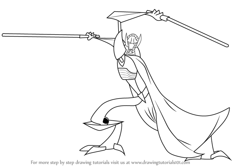 800x566 Learn How To Draw General Grievous From Star Wars (Star Wars) Step