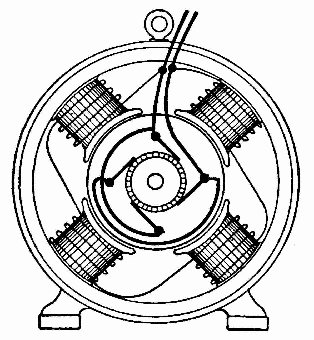generator drawing at getdrawings free for personal use Diagram How a Substation Backup Generator 1193x1292 filemodern consequent pole four field shunt wound dc generator
