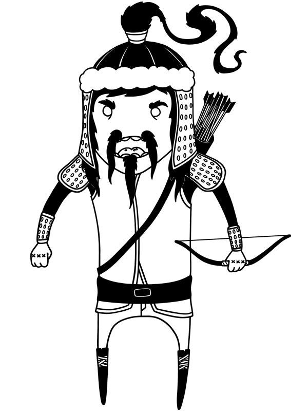 600x800 Genghis Khan Animation Art Genghis Khan, Animation