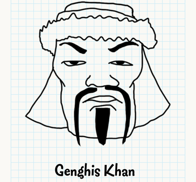 632x586 Genghis Khan Badly Drawn Faces Answers, Walkthrough, Cheats