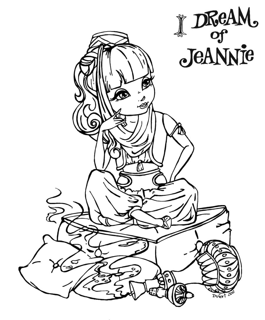 900x1086 Genie Bottle Coloring Page Free Printable Free Coloring Book Picture