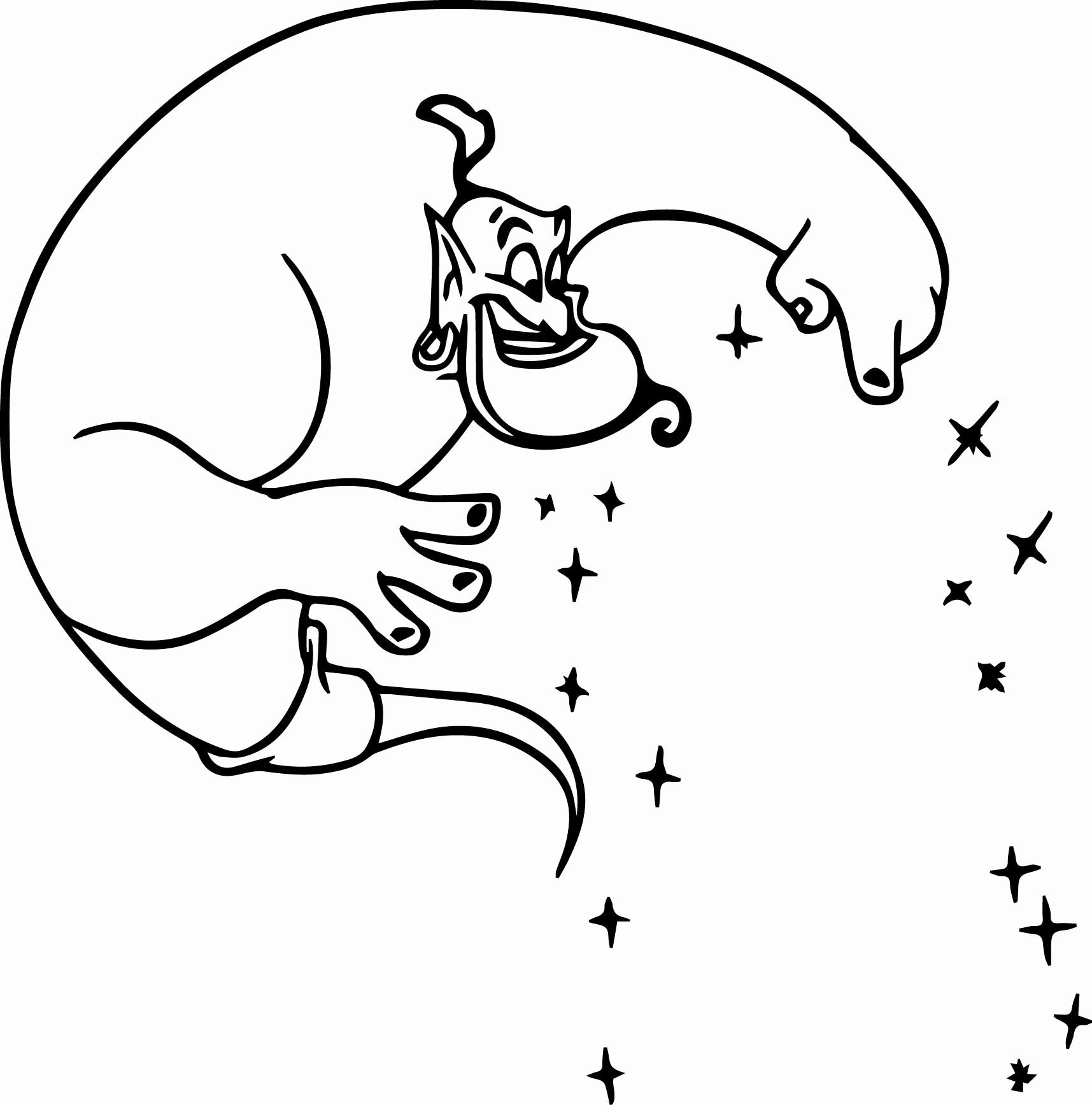 1715x1735 Genie Coloring Pages Realistic
