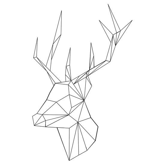 550x550 Geometric Deer By Onealice Diy Geometric Deer