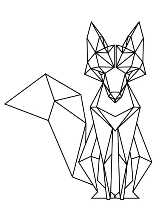 523x740 Geometric Shape Animal