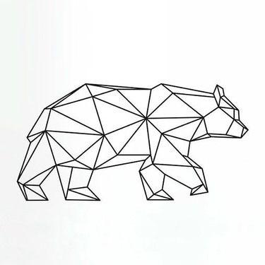 375x375 Geomtric Bear Tattoo Design Bear Tattoos, Tattoo Designs And Tattoo