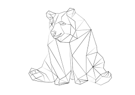 267x189 Image Result For Geometric Drawings Animals Black And White
