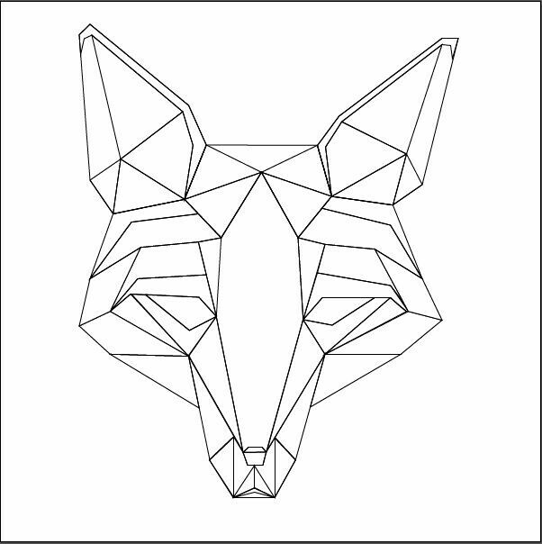 Geometric Animal Drawing At Getdrawingscom Free For