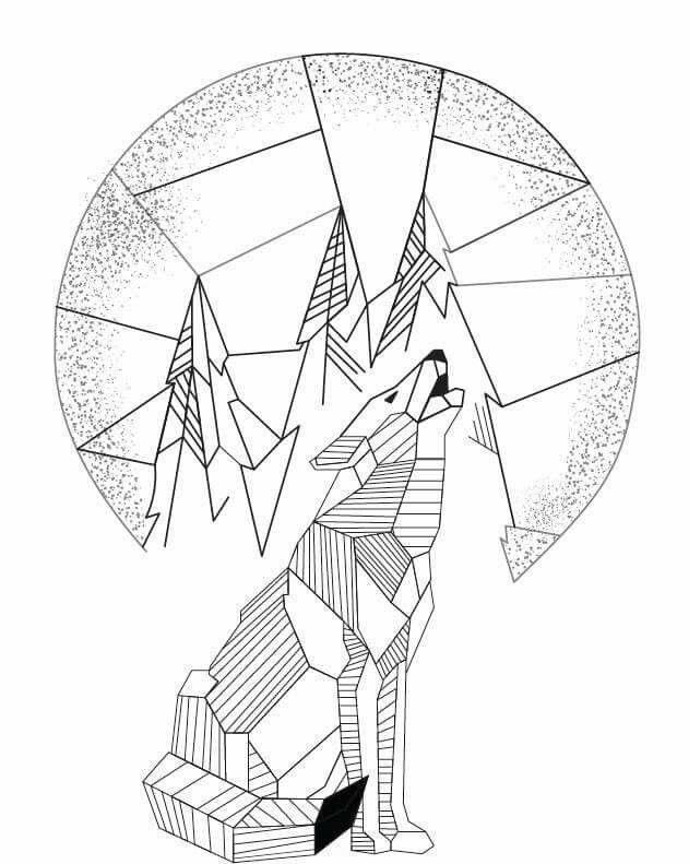 631x791 The Best Geometric Wolf Ideas On Geometric Wolf