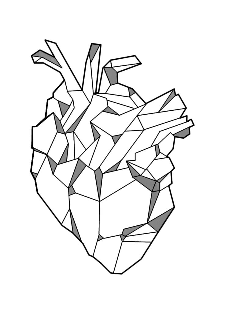 736x1027 Image Result For Geometric Heart Tattoo Tattoos Pinterest