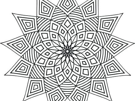 440x330 Geometric Coloring Designs Free Printable Geometric Coloring Pages