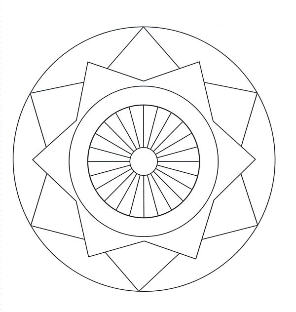 600x632 Geometric Coloring Pages