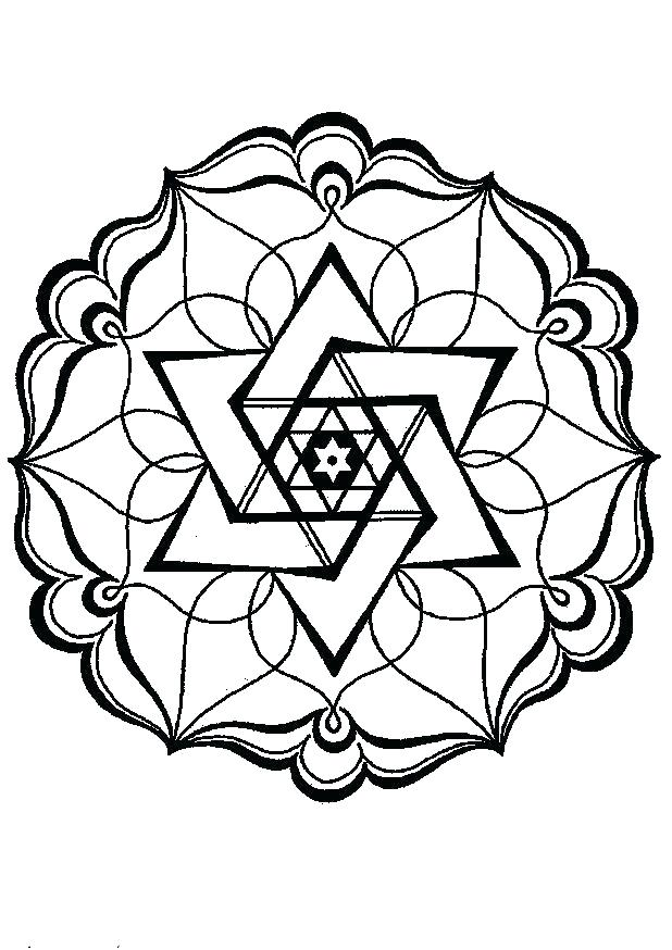 618x874 Geometric Designs Coloring Pages Geometric Pattern Coloring Pages
