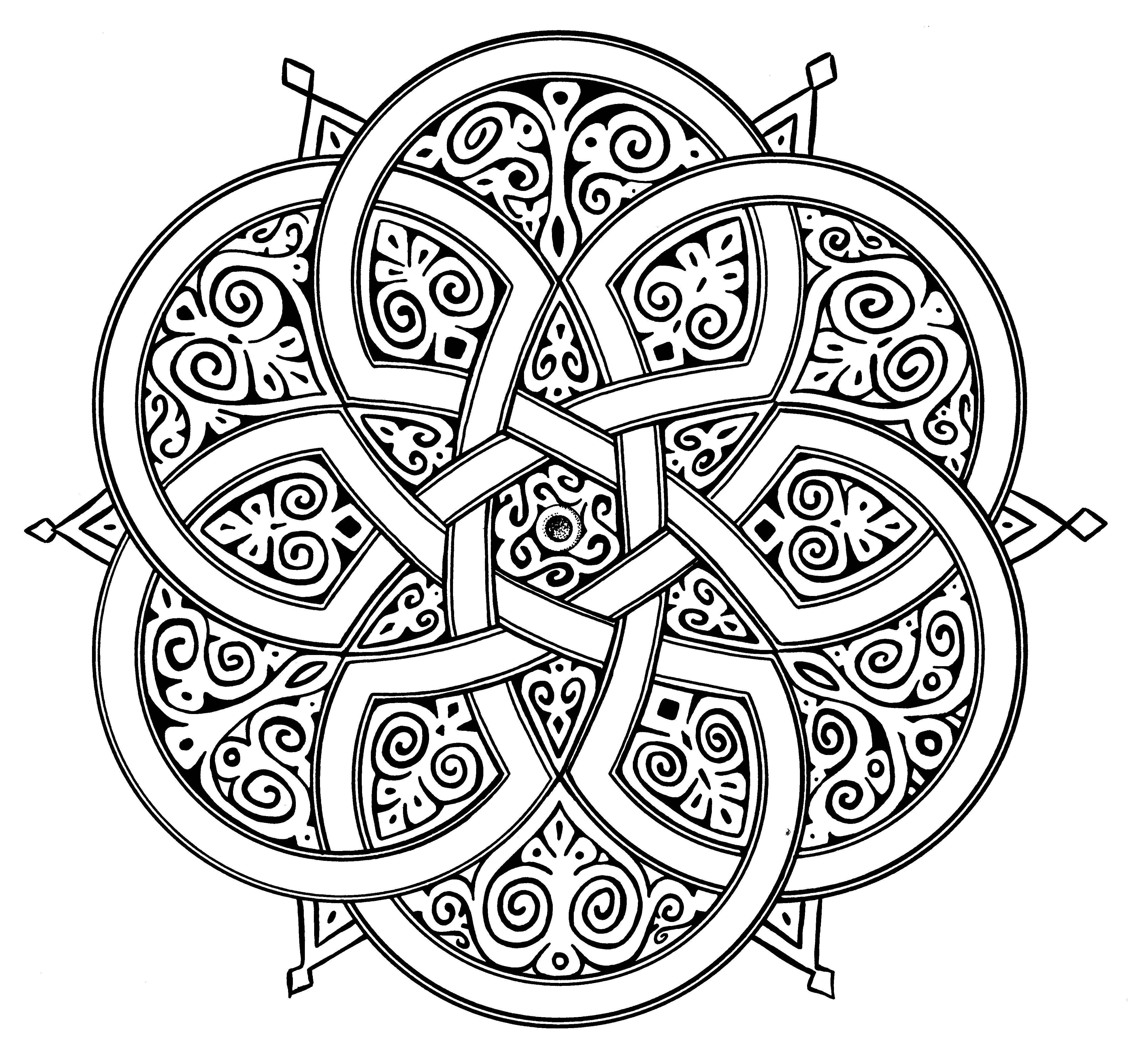 4248x4001 Islamic Art Geometric Designs Sketch Coloring Page Epin Free