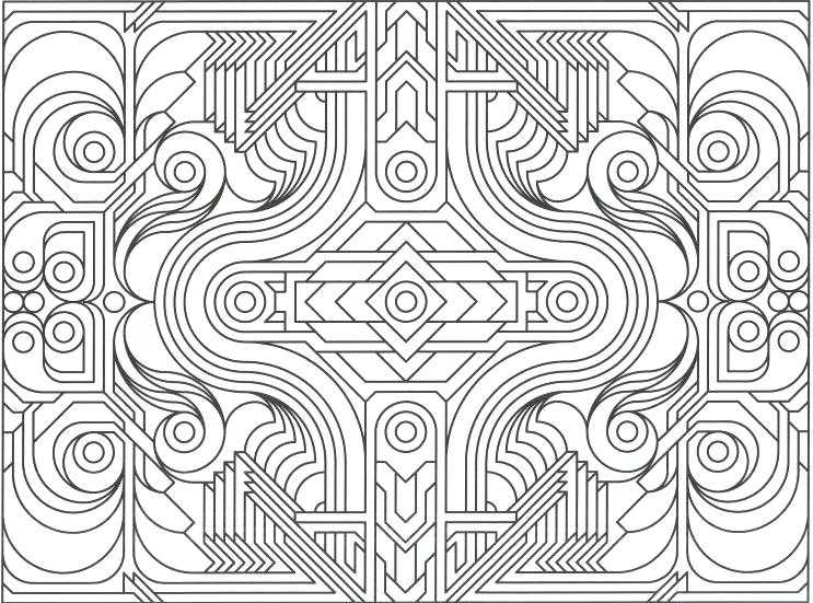 743x551 Pattern Coloring Books Geometric Design Coloring Pages Printable