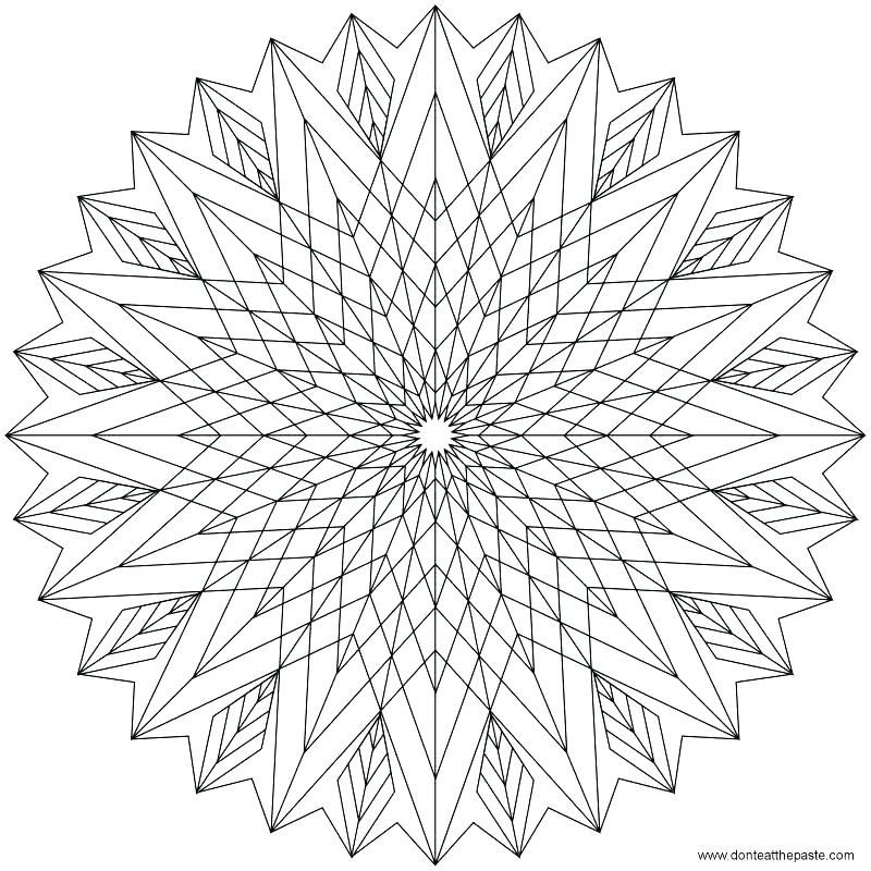 800x800 Geometric Coloring Page Printable Geometric Coloring Pictures