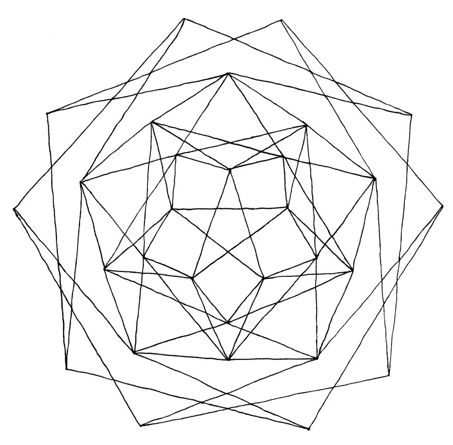 900x884 Geometry Coloring Pages