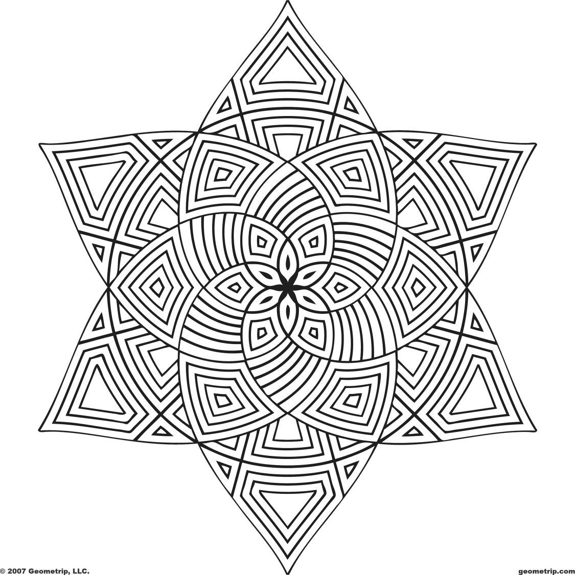 1125x1125 Fascinating Printable Geometric Coloring Pages For Adults Pic