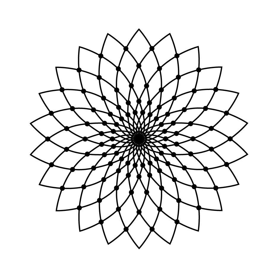 936x936 Geometric Flower