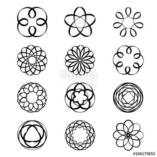 500x500 Geometric Circular Ornament Spirograph Flower Draw Black Tattoo