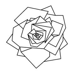 236x236 Geometric Flower Tattoo Base