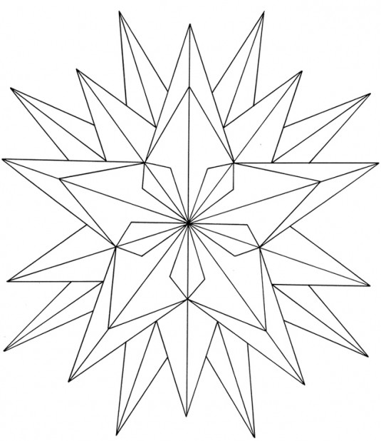 535x618 Geometric Flower