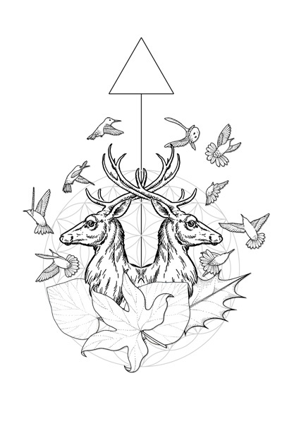 400x600 Collection Of Geometric Line Drawings On Behance