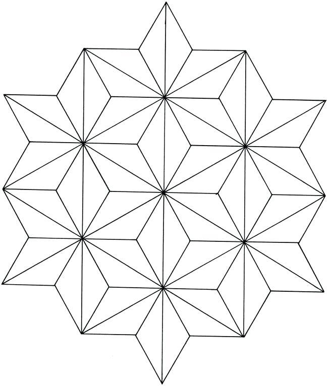 650x766 Geometric Line Designs Creative Haven Geometric Star Designs