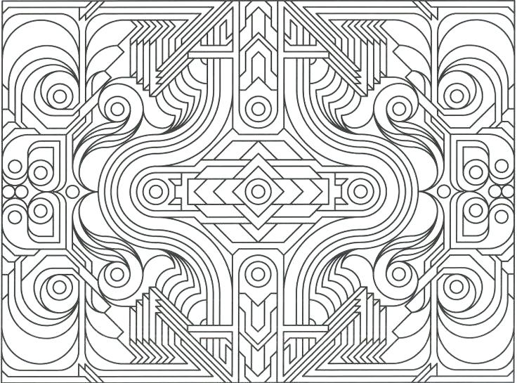 736x545 Great Geometry Coloring Pages On Line Drawings With Geometric