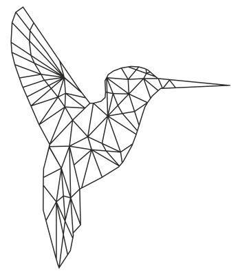 346x399 Muursticker Kolibrie Polygons Facets In Art Bullet